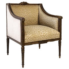 Hand Carved Louis XVI Bergère