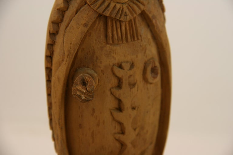 Mid-20th Century Folk Art Hand Carved Madonna Santos with Putto For Sale