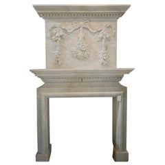 Hand Carved Mantel with Trumeau