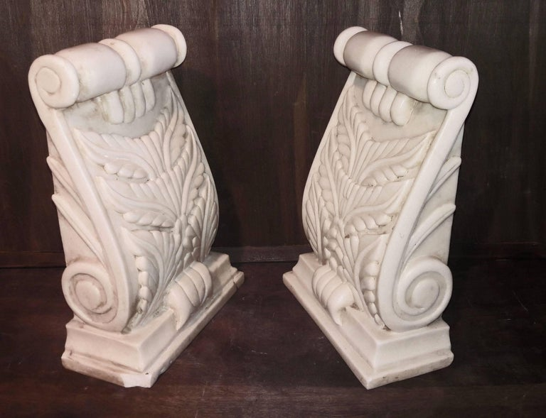 Hand Carved Marble Architectural Details from India, 20th Century In Good Condition For Sale In New York, NY