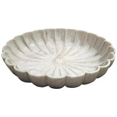 Hand Carved Marble Bowl, Mid-20th Century