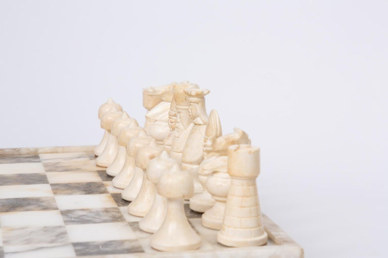Hand Carved Marble Chess Set 3