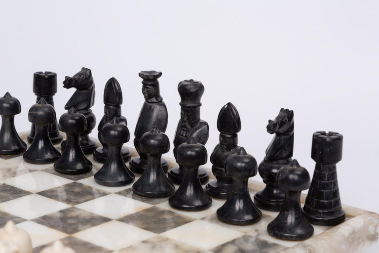 Hand Carved Marble Chess Set 4