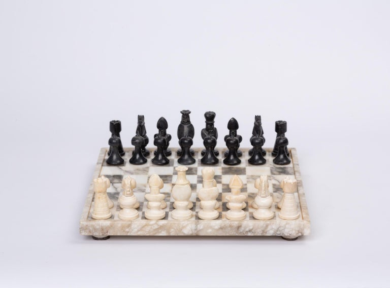 Unknown Hand Carved Marble Chess Set