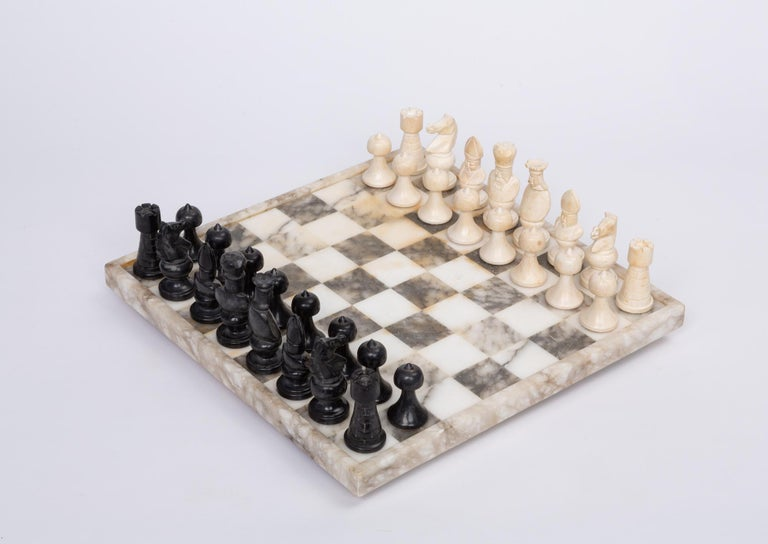 Hand Carved Marble Chess Set 1
