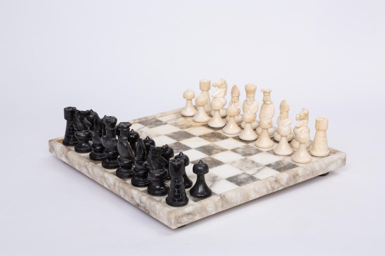 Hand Carved Marble Chess Set 2