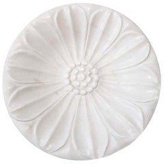 Hand Carved Marble Dish or Vide Poche, Late 20th Century