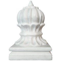 Hand Carved Marble Orb Carpet Weight from India, Late 20th Century
