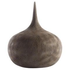 Hand Carved Oak Stylized Onion Form