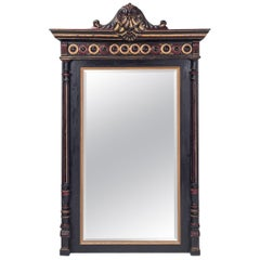 Hand-Carved Regency Style Overmantel Mirror