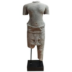 Hand Carved Sandstone Thai Sculpture