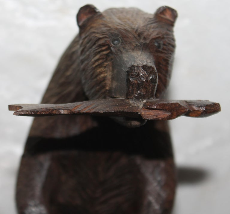 Adirondack Hand Carved Sculpture of Bears For Sale