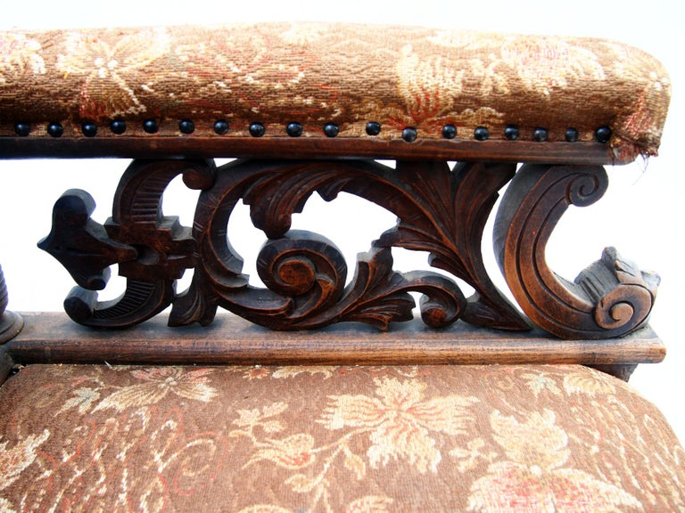 Hand Carved Seating Set, 1800s For Sale 2