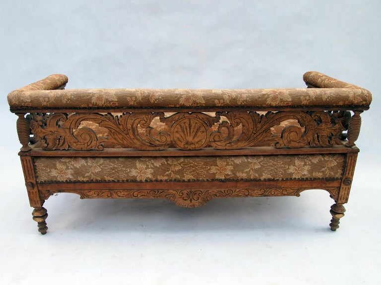 Renaissance Revival Hand Carved Seating Set, 1800s For Sale