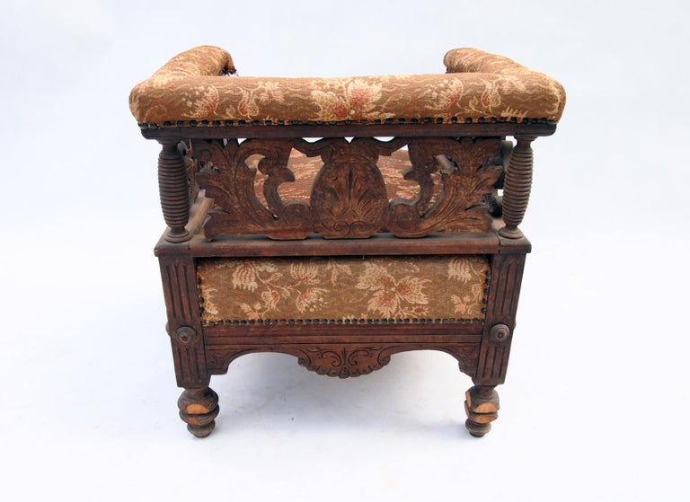 19th Century Hand Carved Seating Set, 1800s For Sale