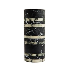 Hand Carved Small Marble Rive Vase by Greg Natale