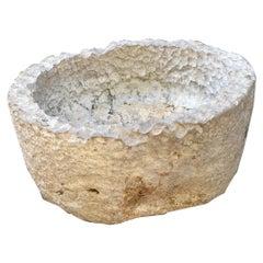Hand Carved Stone Container Planter Jardinière Basin Fountain Trough Antiques LA