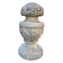 Hand Carved Stone Finial Decorative Architectural Element Urn Antiques landscape