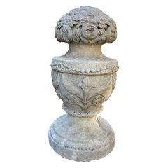 Hand Carved Stone Finial Decorative Architectural Element Urn Antiques landscape