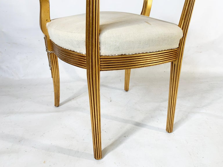 Hand Carved Swag Back Dining Chairs In Excellent Condition For Sale In Jacksonville, FL