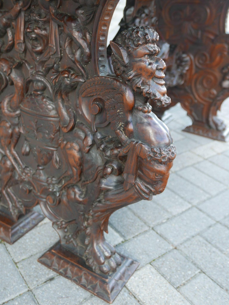 Hand-Carved Table by Master Sculptor Valentino Panciera Besarel For Sale 3