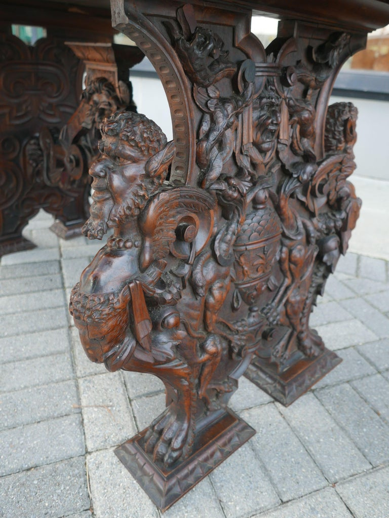 Hand-Carved Table by Master Sculptor Valentino Panciera Besarel For Sale 2