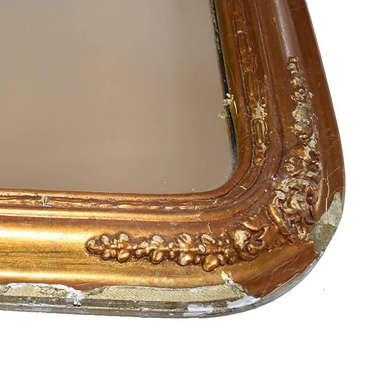 French Hand-Carved Tall Giltwood Mirror in the style of Louis XVI For Sale