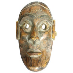 Hand Carved Teak Nepalese Face Mask