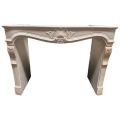 Hand Carved Travertine Mantel