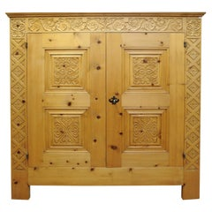 Hand Carved Two-Door Cabinet