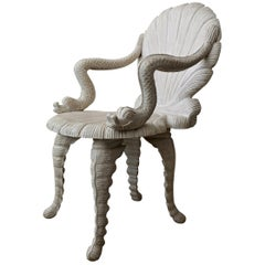 Hand Carved Venetian Grotto Style Chair