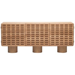Hand Carved White Oak Códice Credenza by Agnes Studio