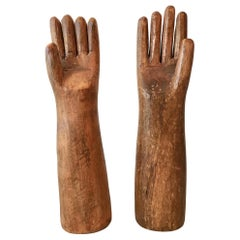 Hand Carved Wood Arms