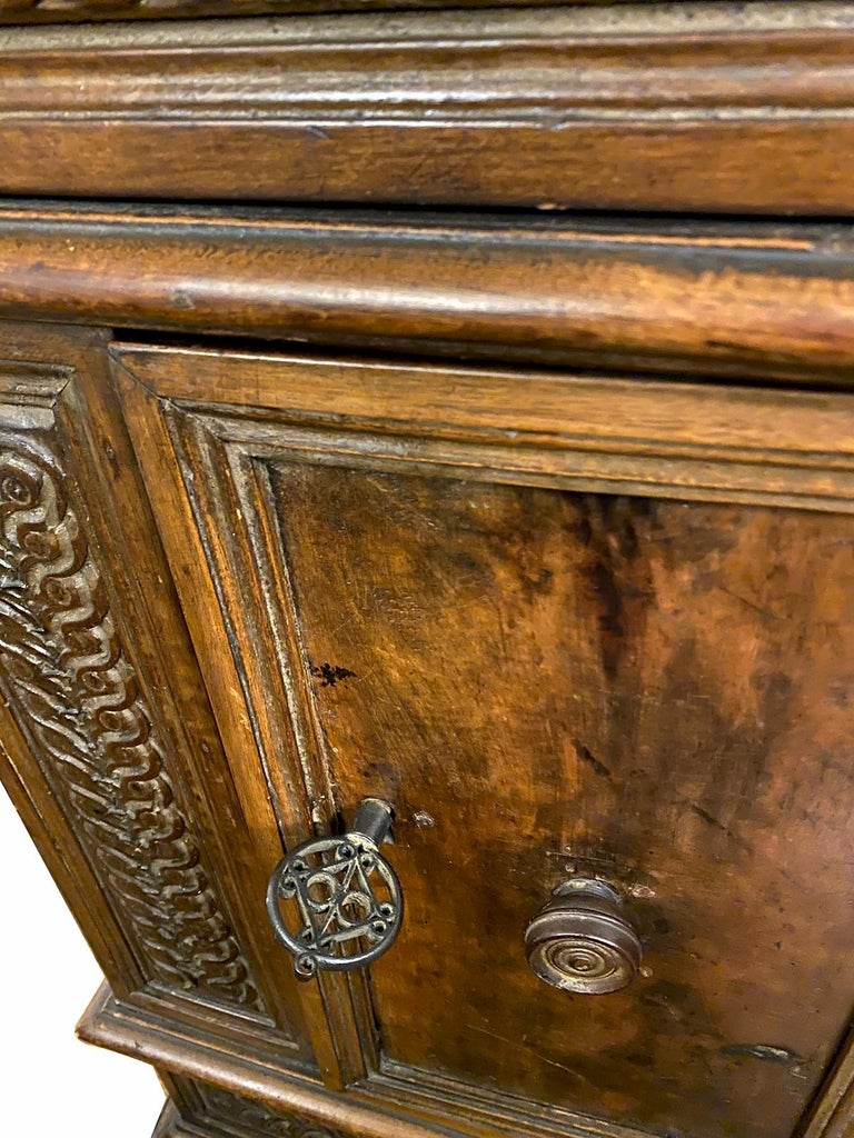 Hand Carved Wood Cabinet In Good Condition For Sale In New York, NY
