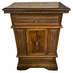 Hand Carved Wood Cabinet