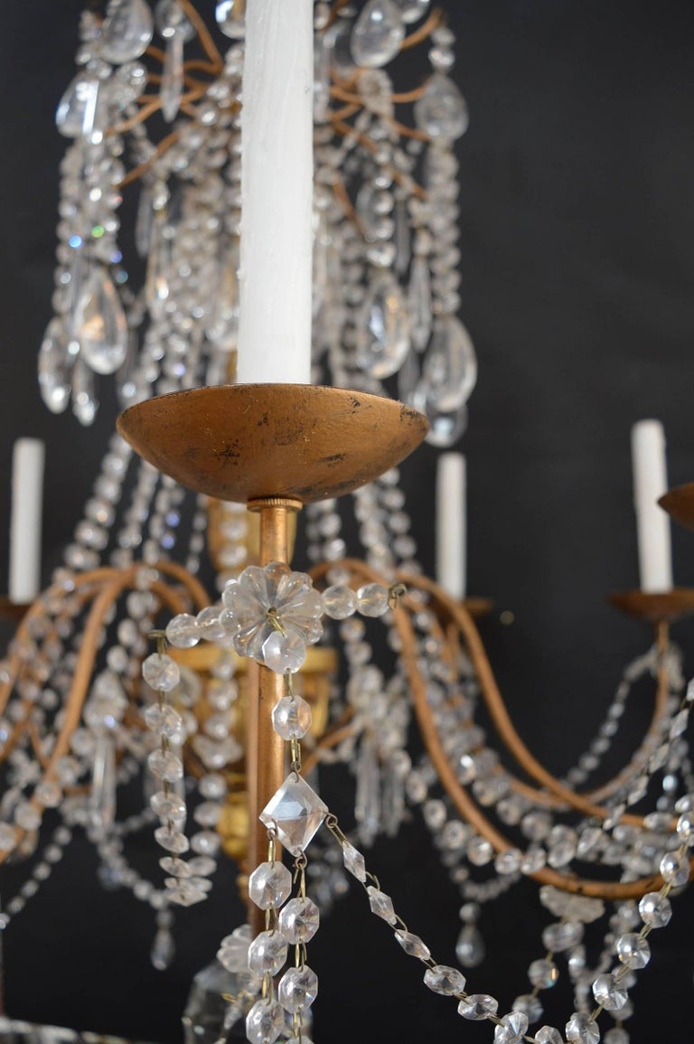 Hand-Carved Wood Chandelier For Sale 2
