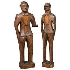 Hand Carved Wood Figures of the Jazz Age and Minstral Period