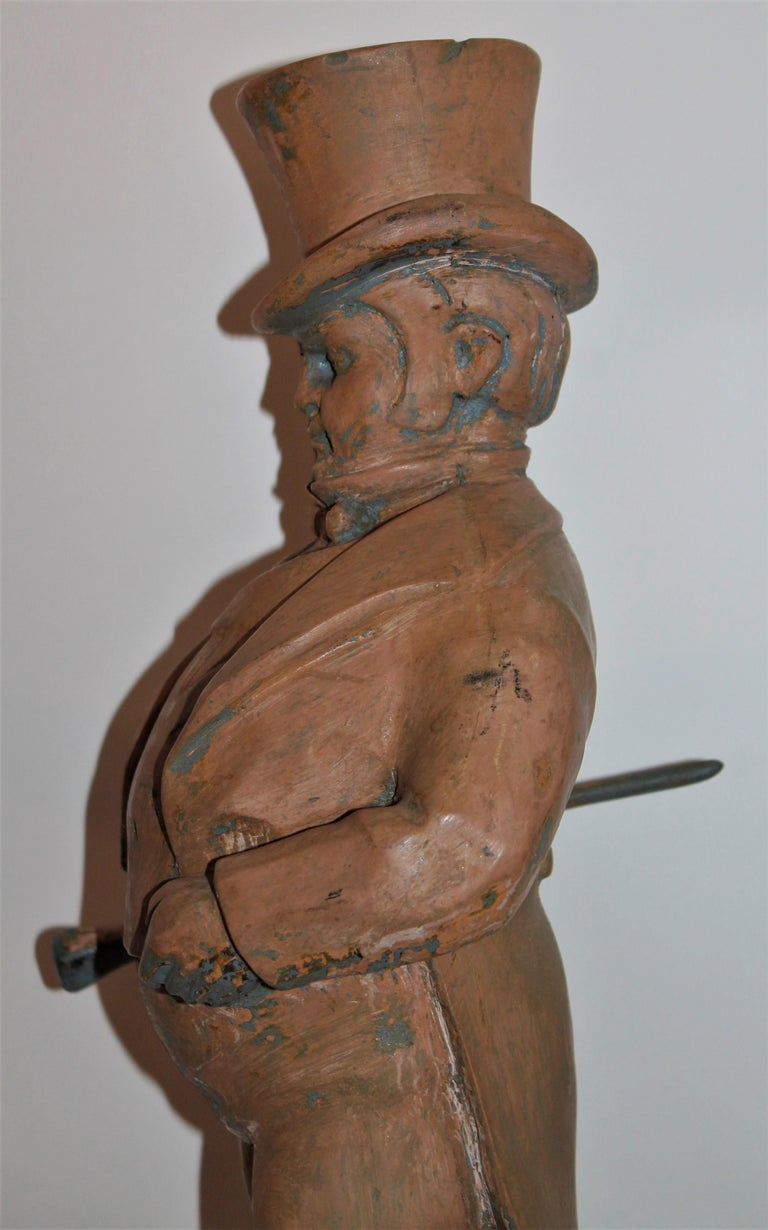 Hand Carved Wood  Folk Sculpture of W.C. Fields For Sale 1