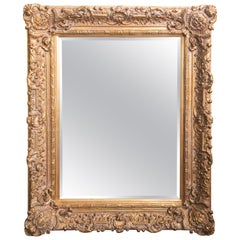 Hand Carved Wood, Gesso and Gilt Mirror, Italy, circa 1880