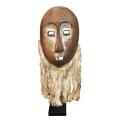 Hand Carved Wood Mask from Ivory Coast, Mid-20th Century