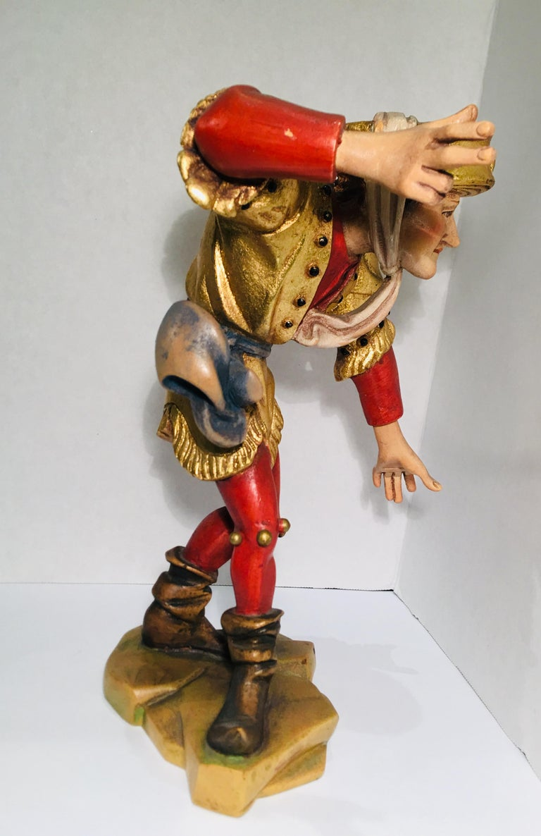 Hand Carved Wood Oswald Demetz Deur Morisco Dancer Insolent Italian Figurine For Sale 3