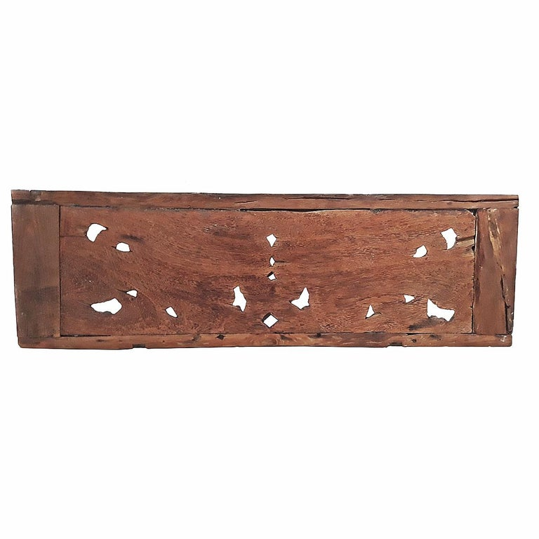 Teak Hand Carved Wood Wall Panel from Indonesia For Sale
