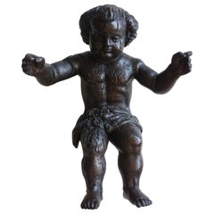 Hand Carved Wooden Cherub