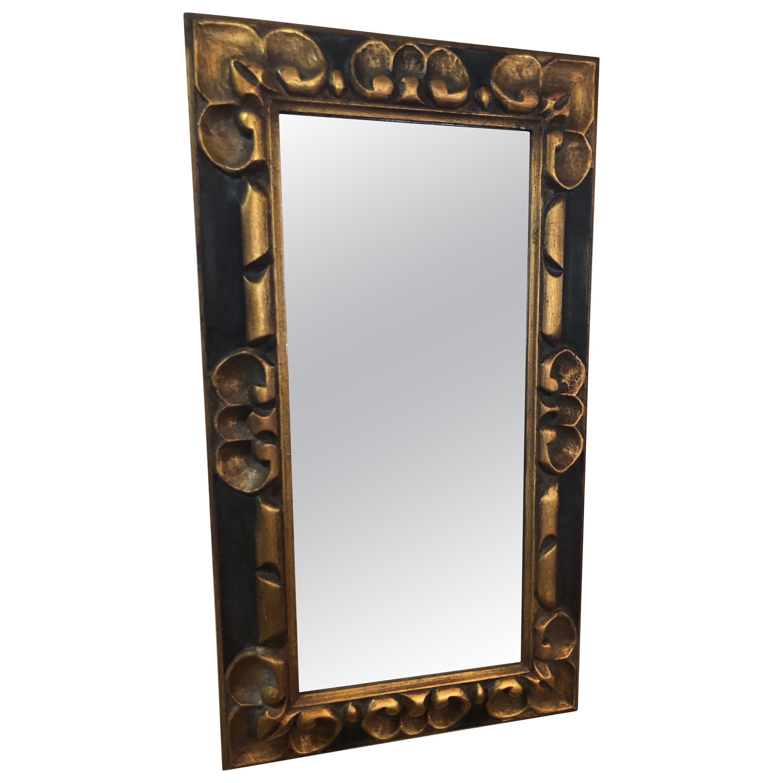Hand Carved Gilt Wooden Mirror