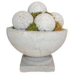 Hand Cast Hypertufa Centerpiece with Preserved Moss & Hypertufa Spheres