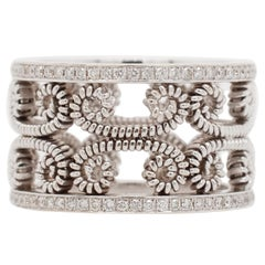 Hand-Coiled Etruscan Style Band with Diamonds