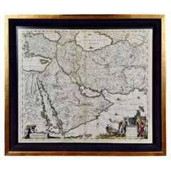 Hand-Colored 17th Century Map of Persia, Armenia & Adjacent Regions by De Wit