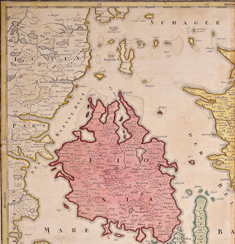 An 18th century copper plate hand-colored map entitled
