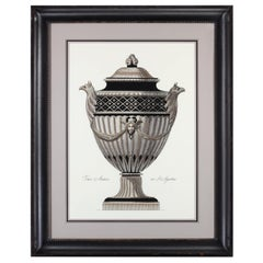 Hand Colored Extra Large Roman Vase Print Number 1 'Available Number 2'