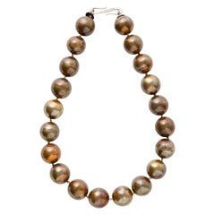 Hand Crafted Bronze Bead Necklace By California Artist Mark Timmerman